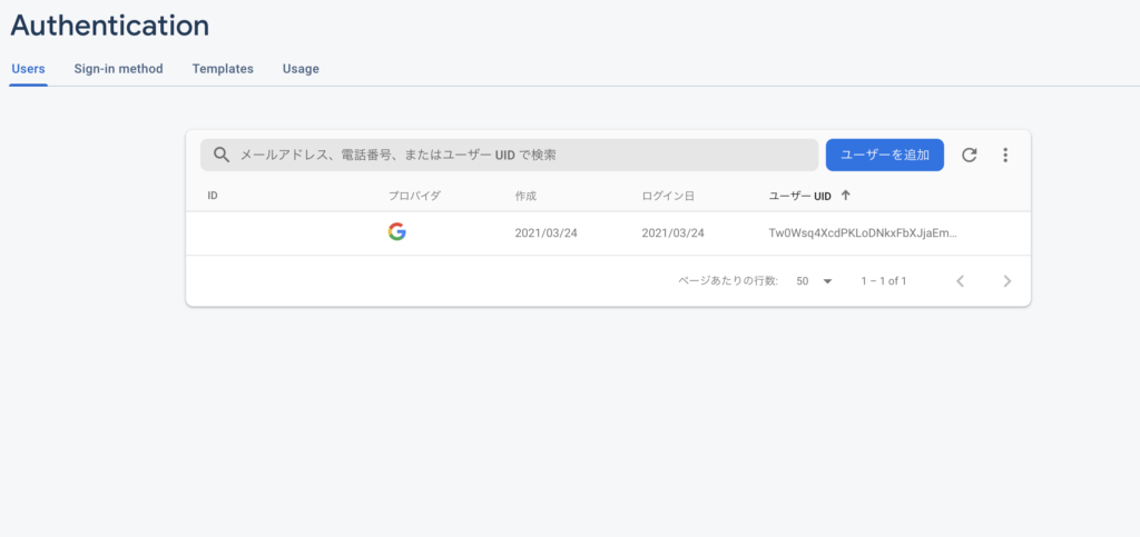 googleアカウントでのログインの確認