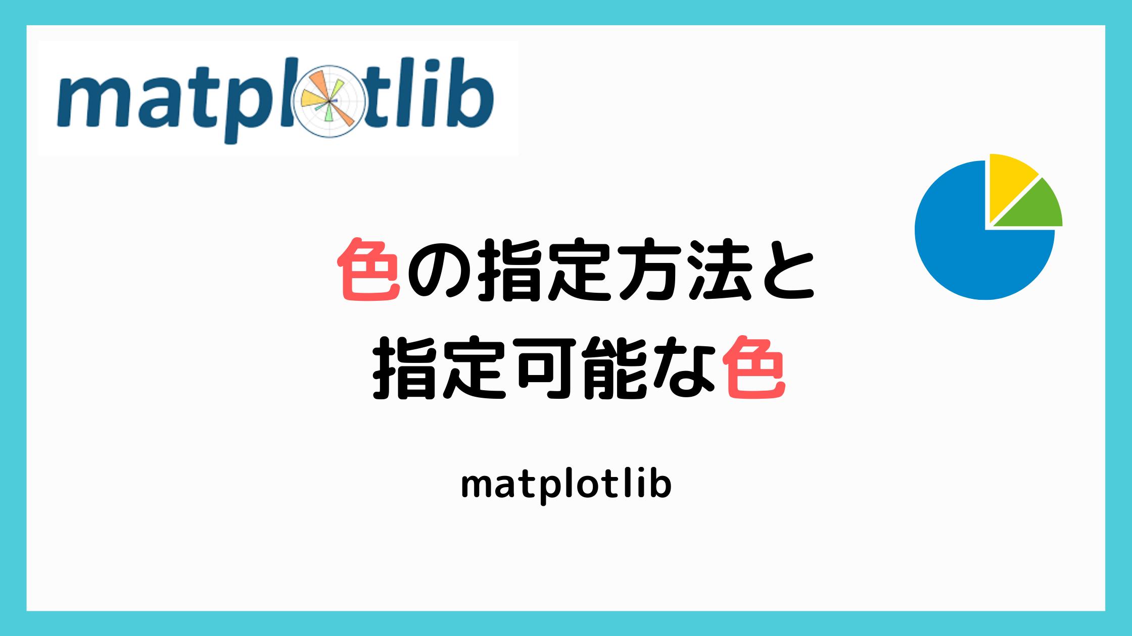 matplotlibの色一覧の記事のアイキャッチ